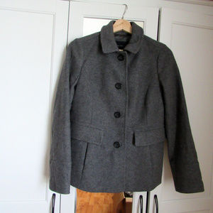 Banana Republic Dark Gray Wool Peacoat